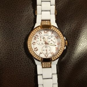 Guess Watch - White & Rose Gold